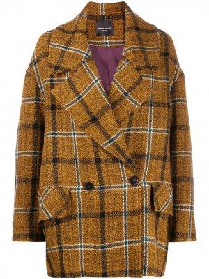 Двубортное пальто Roberto Collina. Цвет: зеленый