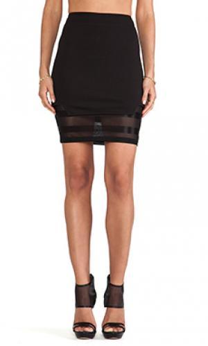 Узкая юбка с воланами clean slate Evil Twin. Цвет: черный