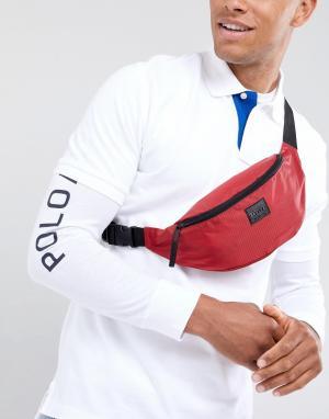 Красная сумка-кошелек на пояс New Look. Цвет: красный