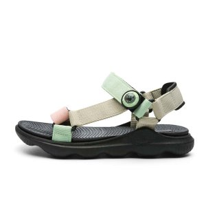 Контрастные спортивные сандалии для мальчиков SHEIN. Цвет: многоцветный