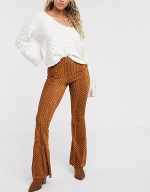 Расклешенные бархатные брюки -Медный Free People