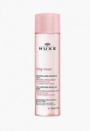 Мицеллярная вода Nuxe VERY ROSE 200 мл. Цвет: розовый