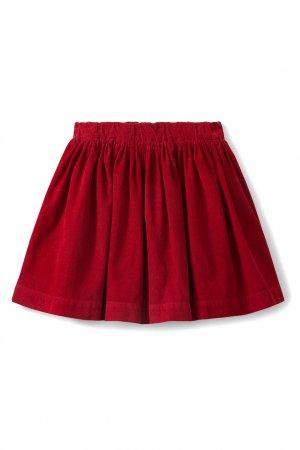 Красная хлопковая юбка Suzon1 Bonpoint. Цвет: красный