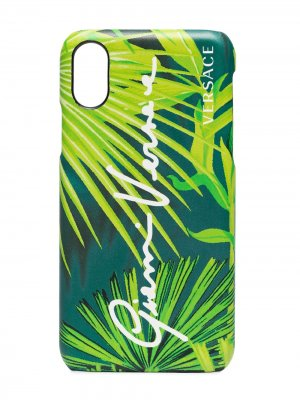 Чехол для iPhone с принтом Versace. Цвет: зеленый