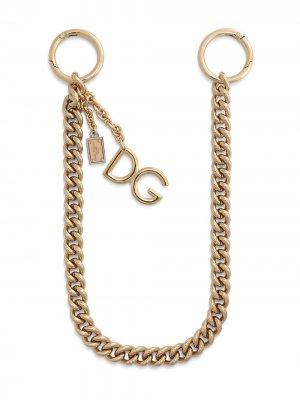 Logo-plaque keyring attachment Dolce & Gabbana. Цвет: золотистый