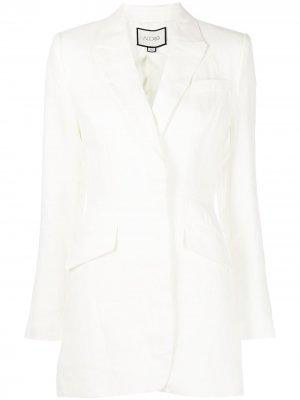 Приталенный пиджак Alexis. Цвет: белый