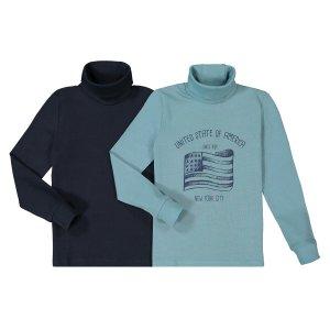 Комплект из тонких пуловеров La Redoute. Цвет: синий