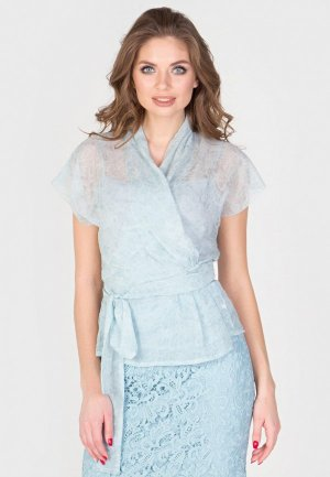 Блуза Filigrana. Цвет: голубой