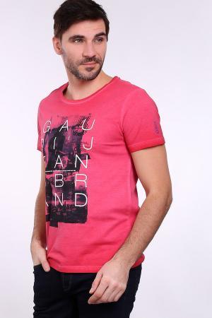 Футболкa Gaudi Jeans. Цвет: розовый