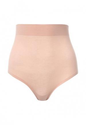 Белье корректирующее Wolford Cotton Contour Control Panty. Цвет: бежевый