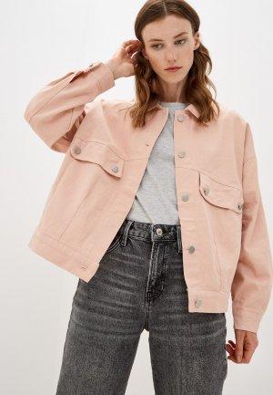 Куртка джинсовая Euros Style. Цвет: розовый