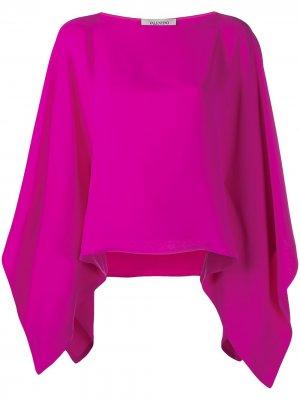 Блузка-кейп с драпировкой Valentino. Цвет: розовый
