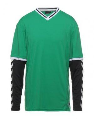 Футболка HUMMEL. Цвет: зеленый