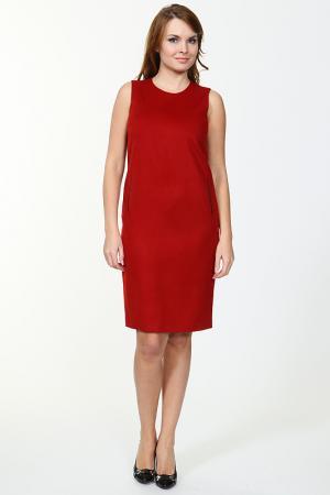 Платье TUZUN. Цвет: темно-красный