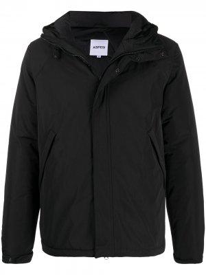 Куртка на молнии с капюшоном Aspesi. Цвет: черный