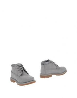 Полусапоги и высокие ботинки TIMBERLAND. Цвет: серый