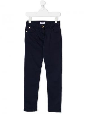 TEEN five pocket trousers Moschino Kids. Цвет: фиолетовый