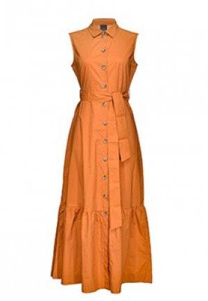 Платье PINKO. Цвет: коричневый