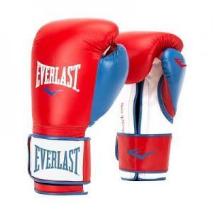 Перчатки боксерские Powerlock, размер 16 Everlast. Цвет: красный