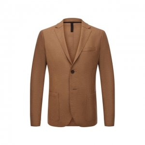 Шерстяной пиджак Harris Wharf London. Цвет: бежевый