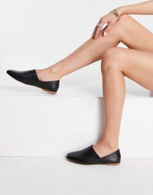 Кожаные туфли-слипоны черного цвета Ayden-Черный цвет Vagabond
