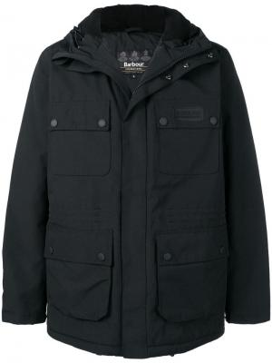 Куртка с капюшоном Barbour. Цвет: черный