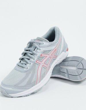 Кроссовки серого/розового цвета Running Gel-Sileo-Серый Asics