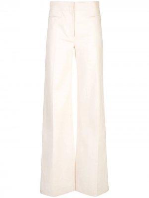 Широкие брюки из денима с карманами Derek Lam. Цвет: белый