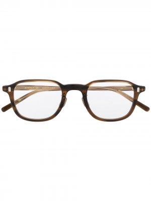 Очки в квадратной оправе черепаховой расцветки Eyevan7285. Цвет: коричневый