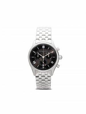 Наручные часы Classics Quart Chronograph 40 мм Frédérique Constant. Цвет: серый