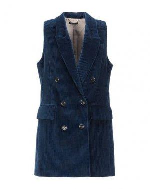 Легкое пальто TRUE TRADITION. Цвет: темно-синий