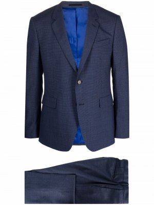 Костюм-двойка с однобортным пиджаком PAUL SMITH. Цвет: синий