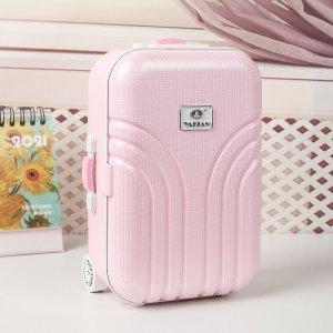 Музыкальная шкатулка в форме чемодана SHEIN. Цвет: розовые
