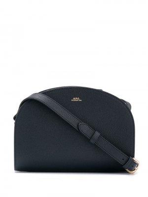 Сумка через плечо с логотипом A.P.C.. Цвет: черный