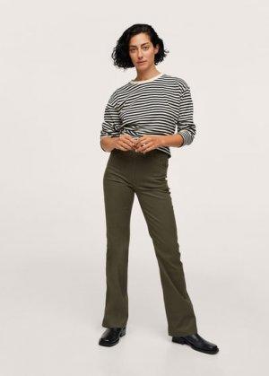 Расклешенные брюки из хлопка - Catalina Mango. Цвет: хаки