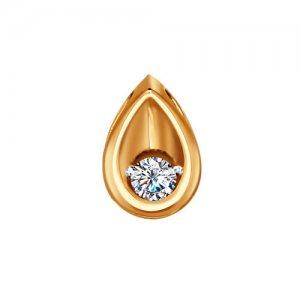 Кулон в форме капельки SOKOLOV Diamonds