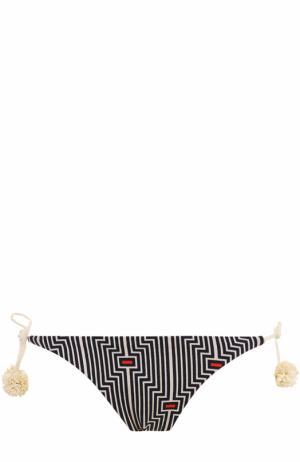 Плавки-бикини с принтом и бантами Heidi Klein. Цвет: разноцветный
