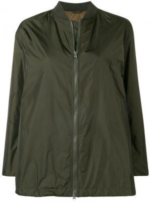 Куртка-бомбер свободного кроя Aspesi. Цвет: зеленый