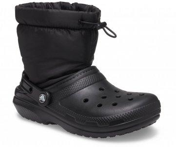 Сапоги CROCS Classic Lined Neo Puff Boot Black/Black арт. 206630. Цвет: black/black