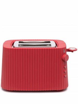 Тостер Plissé Alessi. Цвет: красный