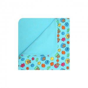 Хлопковое одеяло Moschino. Цвет: синий