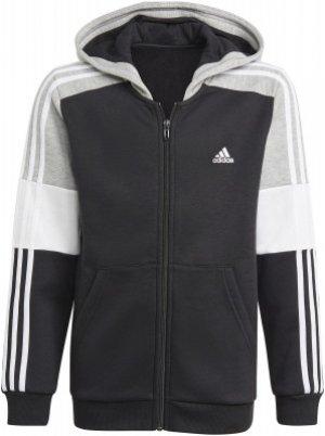 Толстовка для мальчиков adidas Colorblock, размер 164. Цвет: черный