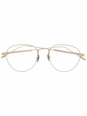 Солнцезащитные очки CT0250S в круглой оправе Cartier Eyewear. Цвет: золотистый
