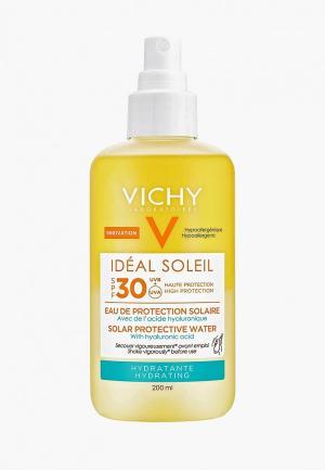 Спрей для тела Vichy Солнцезащитный, двухфазный, увлажняющий. Capital Ideal Soleil, SPF30, 200 мл. Цвет: прозрачный
