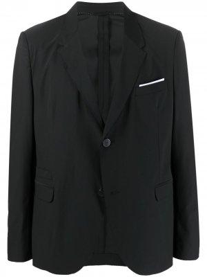 Однобортный пиджак Neil Barrett. Цвет: черный