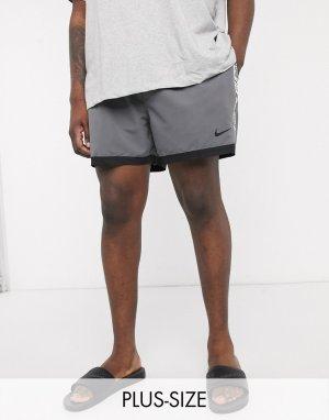 Серые волейбольные шорты 5 дюймов с фирменной лентой Plus-Серый Nike Swimming
