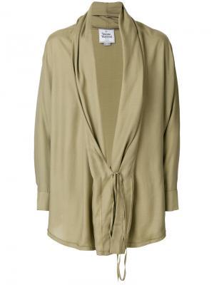 Легкий жакет с завязкой Vivienne Westwood. Цвет: зеленый