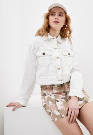 Куртка джинсовая Ostin O'stin. Цвет: белый