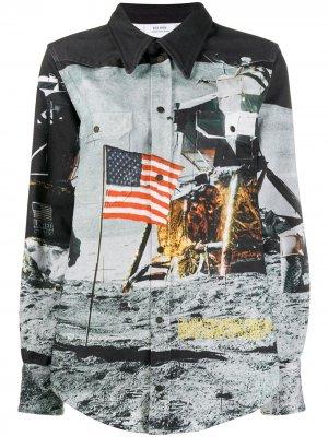 Куртка Moon Flag Calvin Klein Jeans Est. 1978. Цвет: серый