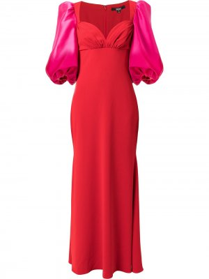 Odessa colour-block gown Badgley Mischka. Цвет: красный